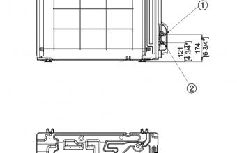 Samsung-Nordic-sieninio-kondicionieriaus-išorinio-bloko-brėžinys-2.6-3.4-kW-2