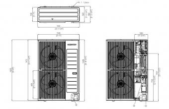 Samsung-Nordic-sieninio-kondicionieriaus-išorinio-bloko-brėžinys-10.0-11.2-kW-vienfazis-įrenginys
