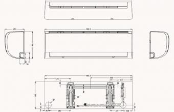 Sieninio-Silver-kondicionieriaus-5.3-5.3-kW-vidinio-bloko-brėžinys