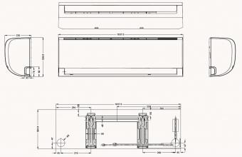 Sieninio-Silver-kondicionieriaus-7.0/7.3-kW-vidinio-bloko-brėžinys