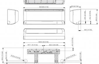 Multi-split-sistemos-bevėjo-Comfort-ARISE-3.50-3.50-kW-brėžinys