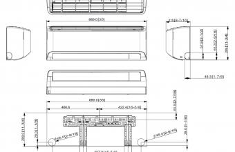 Multi-split-Elite-GEO-2.50-3.20-kW-vidinio-bloko-brėžinys
