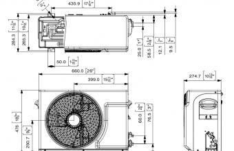 Sieninio-maldive-kondicionieriaus-išorinio-bloko-brėžinys-2.75-3.20-kW