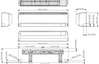 Samsung-sieninio-kondicionieriaus-Cebu-Geo-5.0-6.0-kW-multi-split-vidinio-bloko-brėžinys