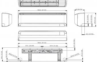 Samsung-sieninio-kondicionieriaus-Cebu-GEO-6.50-7.40-kW-multi-split-vidinio-bloko-brėžinys