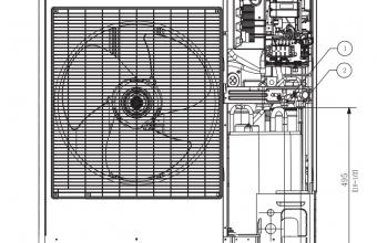 4-kryptės-bevėjės-kasetės-išorinio-bloko-brėžinys-10.0-11.2-kW-vienfazis-įrenginys-3