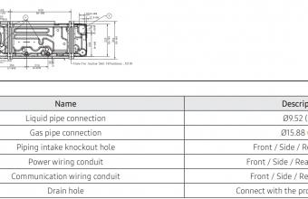 4-kryptės-bevėjės-kasetės-išorinio-bloko-brėžinys-10.0-11.2-kW-vienfazis-įrenginys-4