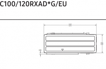 4-kryptės-bevėjės-kasetės-išorinio-bloko-brėžinys-10.0-11.2-kW-vienfazis-įrenginys