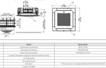 4-kryptės-bevėjės-kasetės-vidinio-bloko-brėžinys-10.0-11.2-kW-vienfazis-įrenginys