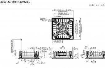 4-kryptės-bevėjės-kasetės-vidinio-bloko-brėžinys-12.00-13.20-kW-vienfazis-įrenginys