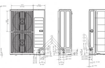 Bevėjės-4-krypčių-kasetės-išorinio-bloko-brėžinys-13.40/15.50-kW-vienfazis-įrenginys-2