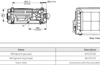Samsung-bevėjės-mini-4-kryptės-3.5/4.0-kW-kasetės-išorinio-bloko-brėžinys-2