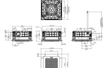 Samsung-bevėjės-mini-4-kryptės-6.8/7.5-kW-kasetės-vidinio-bloko-brėžinys