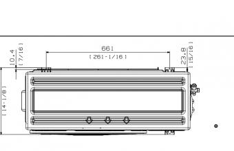 Samsung-bevėjės-mini-4-kryptės-6.8/7.5-kW-kasetės-išorinio-bloko-brėžinys-2