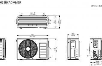 Samsung-konsolinio-tipo-2.63.5-kW-oro-kondicionieriaus-komplekto-išorinio-bloko-brėžinys-2