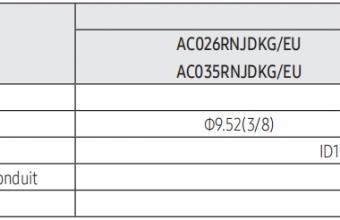 Samsung-konsolinio-tipo-2.6/3.5-kW-oro-kondicionieriaus-komplekto-vidinio-bloko-brėžinys-2
