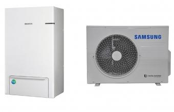 SAMSUNG oras-vanduo 5.0/4.4kW SPLIT komplektas su R32 freonu (be tūrinio šildytuvo)