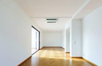 2-way in empty modern hallway