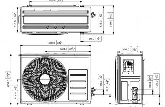 Sieninio-bevėjo-Optimum-kondicionieriaus-išorinio-bloko-brėžinys-6.50-7.40-kW