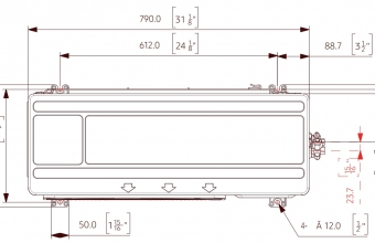 Nordic-Range-Comfort-išorinio-bloko-brėžinys-2.50-3.20-kW