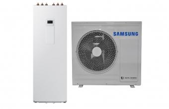SAMSUNG 5.0/5.0kW oras-vanduo monobloko komplektas su R32 freonu ir tūriniu šildytuvu