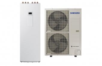 SAMSUNG 16.0/14.0kW oras-vanduo monobloko komplektas su R32 freonu ir tūriniu šildytuvu