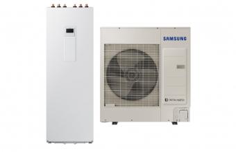 SAMSUNG 8.0/7.5kW oras-vanduo monobloko komplektas su R32 freonu ir 260 L tūriniu šildytuvu (trifazis įrenginys)