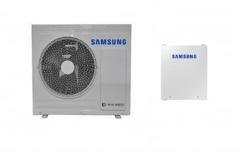 SAMSUNG 5.0/5.0kW oras-vanduo monobloko komplektas su R32 freonu ir valdymo automatika (be tūrinio šildytuvo)