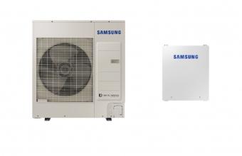 SAMSUNG 8.0/7.5kW oras-vanduo monobloko komplektas su R32 freonu ir valdymo automatika (trifazis įrenginys be tūrinio šildytuvo)