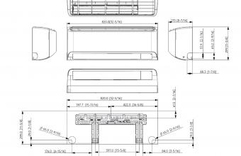 AR09TXFZBWKNEE-AR12TXFZBWKNEE-vidinio-bloko-brėžinys