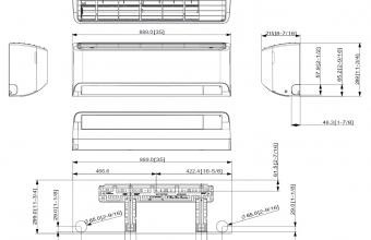 Bevėjų-Nordic-modelių-AR09TXCACWKNEE-AR12TXCACWKNEE-vidinio-bloko-brėžinys
