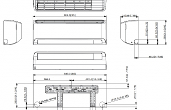 AR09TXFYBWKNEE-AR12TXFYBWKNEE-vidinio-bloko-brėžinys