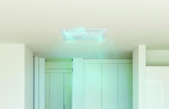 1-way WindFree mode on white ceiling