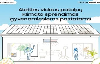 Ateities vidaus patalpų klimato sprendimas gyvenamiesiems pastatams