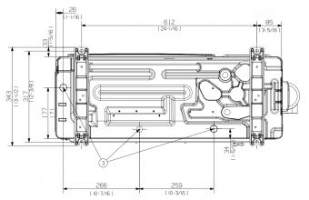 Vidutinio-slėgio-kanalinio-kondicionieriaus-išorinio-bloko-brėžinys-3.5-4.0-kW-3