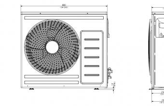 Vidutinio-slėgio-kanalinio-kondicionieriaus-išorinio-bloko-brėžinys-5.8-7.0-kW-2