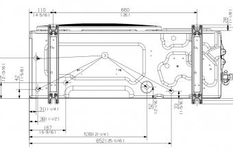 Vidutinio-slėgio-kanalinio-kondicionieriaus-išorinio-bloko-brėžinys-5.8-7.0-kW-3