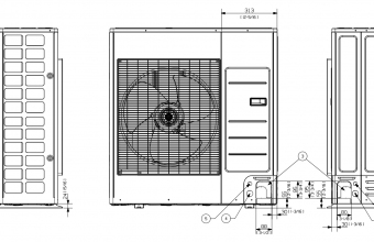Vidutinio-slėgio-kanalinio-kondicionieriaus-išorinio-bloko-brėžinys-9.0-10.0-kW-trifazis-įrenginys-2