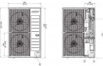 Aukšto-slėgio-kanalinio-kondicionieriaus-išorinio-bloko-brėžinys-18.0-20.0-kW-2