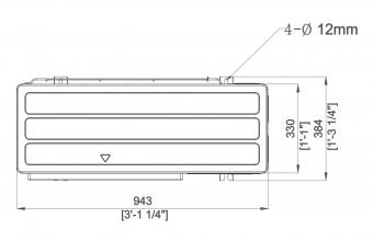 Aukšto-slėgio-kanalinio-kondicionieriaus-išorinio-bloko-brėžinys-18.0-20.0-kW