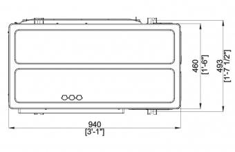 Aukšto-slėgio-kanalinio-kondicionieriaus-išorinio-bloko-brėžinys-20.0-23.0-kW