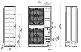 Aukšto-slėgio-kanalinio-kondicionieriaus-išorinio-bloko-brėžinys-25.0-27.0-kW-2