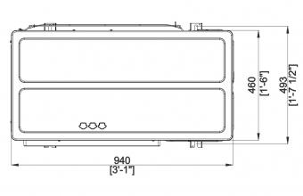 Aukšto-slėgio-kanalinio-kondicionieriaus-išorinio-bloko-brėžinys-25.0-27.0-kW